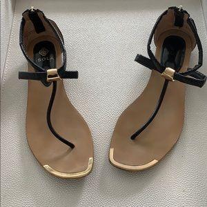 Isola Black Summer Sandals